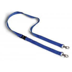 Remienok s 2 karabínkami modrý, bal.10 ks