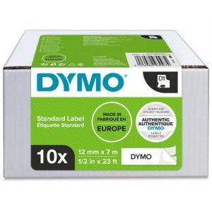Samolepiaca páska Dymo D1 12 mm čierna na bielej, 10ks