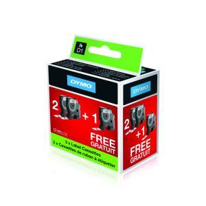 Samolepiace pásky Dymo D1 12 mm biela/čierna 3ks