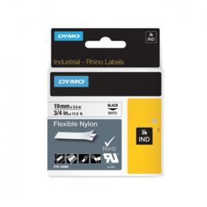 Flexibilná nylonová páska Dymo D1 19mm b/č