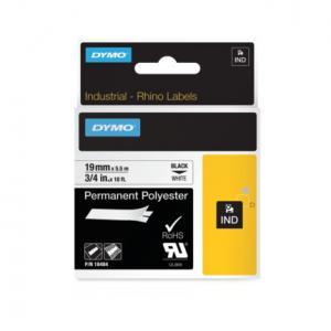 Permanentná polyesterová páska Dymo D1 19mm biela/čierna