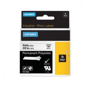 Permanentná polyesterová páska Dymo D1 9mm biela/čierna