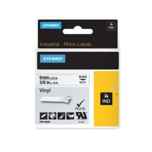 Flexibilná vinylová páska Dymo D1 9mm biela/čierna