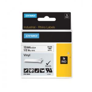 Flexibilná vinylová páska Dymo D1 12mm biela/čierna