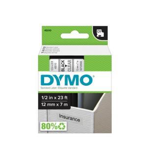Samolepiaca páska Dymo D1 12 mm číra/čierna