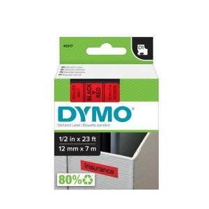 Samolepiaca páska Dymo D1 12 mm červená/čierna