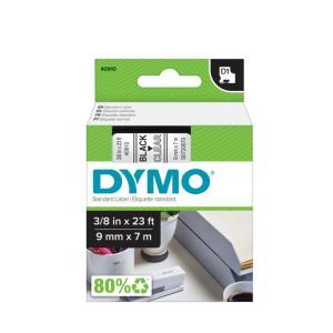 Samolepiaca páska Dymo D1 9 mm číra/čierna