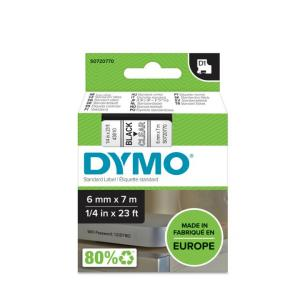 Samolepiaca páska Dymo D1 6 mm číra/čierna