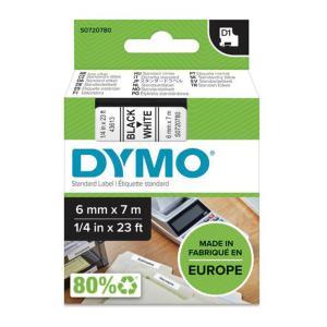 Samolepiaca páska Dymo D1 6 mm biela/čierna