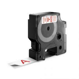 Samolepiaca páska Dymo D1 19 mm červená/biela