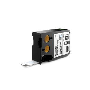 Laminované štítky Dymo XTL 21x39 mm biela/čierna