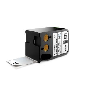 Laminované štítky Dymo XTL 38x39 mm biela/čierna