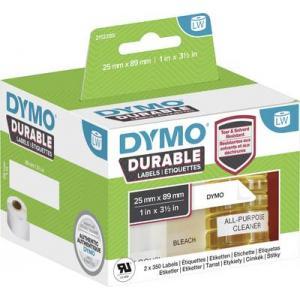 Samolepiace etikety Dymo LW 89x25mm polypropylénové s ochrannou vrstvou biele
