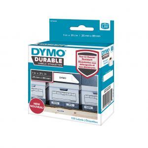 Samolepiace etikety Dymo LW 89x25mm polypropylénové s ochrannou vrstvou 100ks