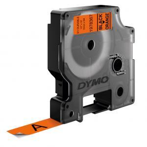 Permanentná vinyová páska Dymo D1 12 mm oranžová/čierna