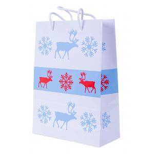 Vianočná laminovaná taška bavlnené ušká 240x100x320mm Škandinávia