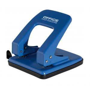 Dierovač kovový na 40 listov Office product modrý