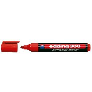 Permanentný popisovač edding 300 červený