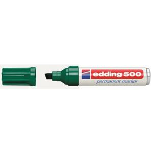 Permanentný popisovač edding 500 zelený
