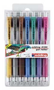 Sada rollerov edding 2190/7 S metalické farby
