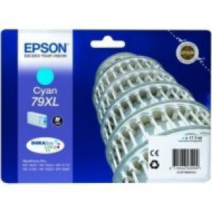 Atrament Epson C13T79024010 cyan 79XL WF5000