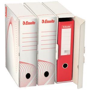 Archívny box na zakladač Esselte biely/červený