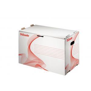 Archívna škatuľa na zakladače Esselte biela/červená
