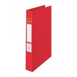 Zakladač 2-krúžkový celoplastový 3,5cm červený