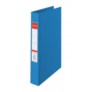 Zakladač 2-krúžkový celoplastový 3,5cm modrý