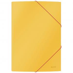 Kartónový obal s gumičkou Leitz Cosy hebký teplý žltý