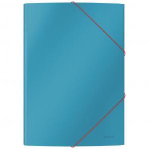 Kartónový obal s gumičkou Leitz Cosy hebký kľudný modrý