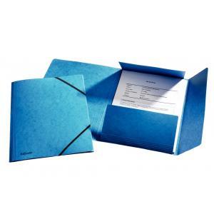 Prešpánový obal s gumičkou Esselte modrý