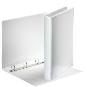 Zakladač 4-krúžkový prezentačný s D-krúžkom 3,8cm biely