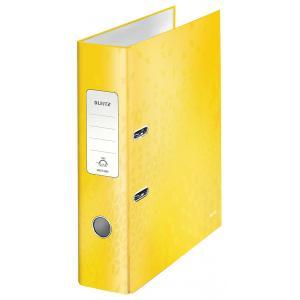 Zakladač pákový Leitz 180° WOW 8cm žltý