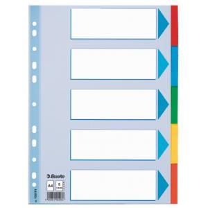 Kartónový rozraďovač Esselte 5-dielny farebný
