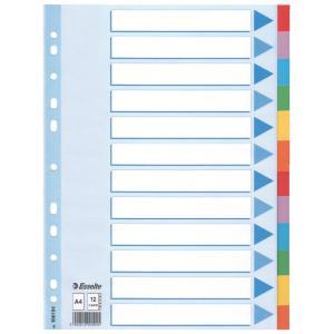 Kartónový rozraďovač Esselte 12-dielny farebný