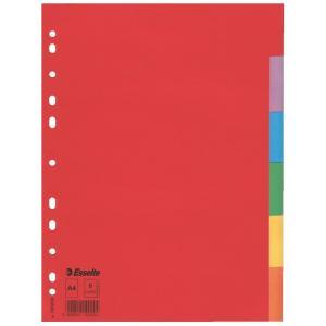 Kartónový rozraďovač Esselte Economy 6-dielny farebný