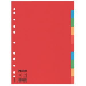 Kartónový rozraďovač farebný Economy 10-dielny Esselte