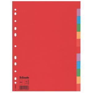 Kartónový rozraďovač Esselte Economy 12-dielny farebný