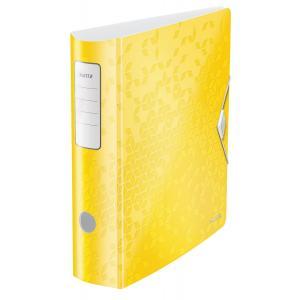Zakladač pákový Leitz 180° Active WOW 8,2cm žltý