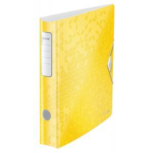 Zakladač pákový Leitz 180° Active WOW 6,5cm žltý