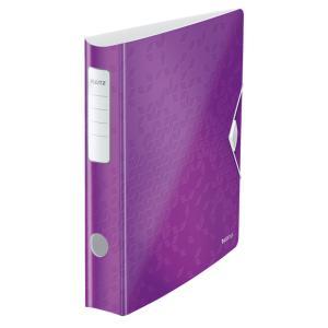 Zakladač pákový Leitz 180° Active WOW 6,5cm purpurový