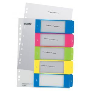 Plastový rozraďovač Leitz WOW potlačiteľný 1-5 farebný