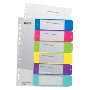 Plastový rozraďovač Leitz WOW potlačiteľný 1-6 farebný