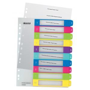 Plastový rozraďovač WOW rôznofarebný potlačiteľný 1-10