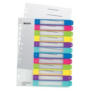 Plastový rozraďovač WOW rôznofarebný potlačiteľný 1-12
