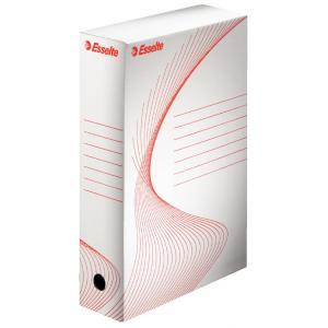 Archívny box Esselte 80mm biely/červený