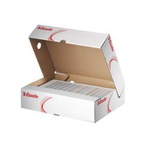Archívna škatuľa horizontálna Esselte biela/červená