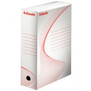 Archívny box Esselte 100mm biely/červený