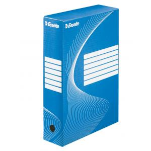 Archívny box Esselte 80mm modrý/biely